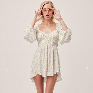 NWOT For Love & Lemons Strudel Mini Dress